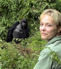 Becci with Silverback